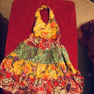 Boho Dress | Size 4T | Halter and sequins | Twirl